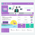 Vector website template for business in editable Stock Photos