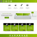 Vector website template for business in editable Royalty Free Stock Photography