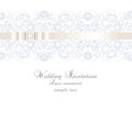 Vector Wedding Invitation card with lace floral ornamenе