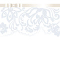 Vector Wedding Invitation card with lace floral ornament
