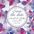 Vector wedding invitation or Save the date card
