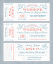 Vector Wedding Invite Tickets Stock Photos