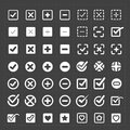 Vector white confirm icons set