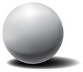Vector white 3D sphere with shadow.