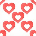 Vector white seamless pattern from red watercolor hearts