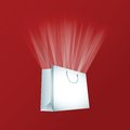 Vector white shopping bag Royalty Free Stock Photography
