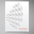 Vector white squares abstract backround this is file of eps format Stock Photography
