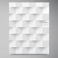 Vector white squares abstract backround this is file of eps format Stock Images