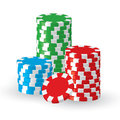 Vector win casino chips isolated Royalty Free Stock Images