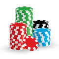 Vector win casino chips the isolated Royalty Free Stock Photos