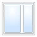 Vector window illustration over white Royalty Free Stock Image