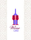 Vector wine card icon, logo, menu cover Royalty Free Stock Photo