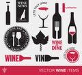 Vector wine items