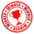 Vector winner stamp isolated on white Royalty Free Stock Photo