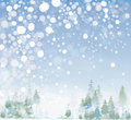 Vector of winter landscape background is my creative handdrawing and you can use it for christmas design and etc made in adobe Royalty Free Stock Photos