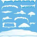Vector winter snow caps collection