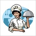 Woman chef design Royalty Free Stock Photo