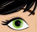Vector woman eye illustration background Stock Photography