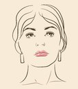 Vector woman face Royalty Free Stock Photo