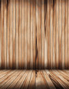 Vector wood room with wooden planks floor Stock Photography