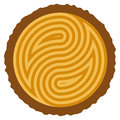 Vector wooden log cut with rings forming yin and yang symbol Royalty Free Stock Photo