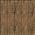 Vector wooden seamless texture with trees