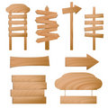 vector wooden signs Stock Photo