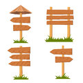Vector wooden signs set