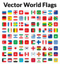 Vector world flags this is a simple clean and unique set of ized full and resizable good for several projects Royalty Free Stock Photography