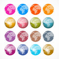 Vector World Globe Icons Set Royalty Free Stock Photos