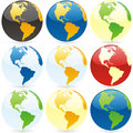 Vector world globes Royalty Free Stock Photography