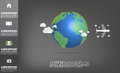 Vector world map with copy space vector on dark grey background Royalty Free Stock Photo