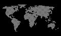 Vector World Map round pixel dots