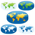 Vector world maps Stock Photos