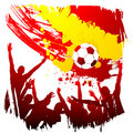 Vector worldcup spain Stock Image