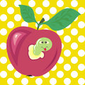 Vector wormy apple Royalty Free Stock Photo