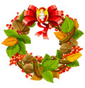 Vector wreath christmas decoration Stock Images