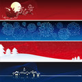 Vector xmas banners Stock Photo