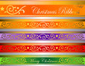 Vector xmas deco ribbons gold Stock Image