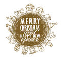 Vector xmas and new year background Royalty Free Stock Photo