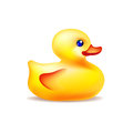 Vector yellow bath duck Royalty Free Stock Photo