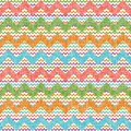 Vector zigzag chevron pattern retro colorful vintage popular Royalty Free Stock Image
