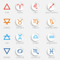 Vector Zodiac signs. Set of simple volumetric zodiac signs