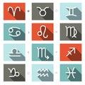 Vector Zodiac Symbols Set Royalty Free Stock Photo