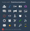 Vectoral icons set for communications Royalty Free Stock Photo