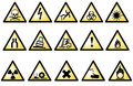 Vectorial danger symbols Royalty Free Stock Photos