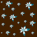 Vectorial flower pattern Stock Images