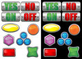 Vectorial glass buttons Stock Photos