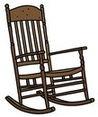 The old wooden rocking chair Royalty Free Stock Photo