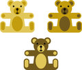 Vectorized teddy bears Royalty Free Stock Photography